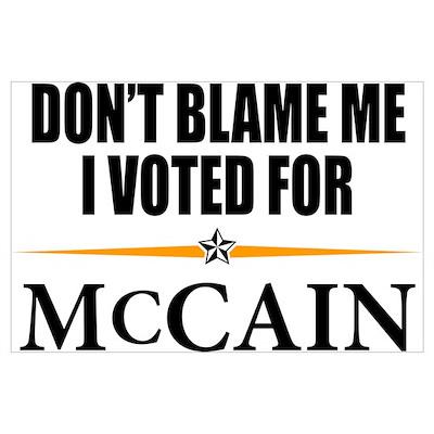 I Voted for McCain Poster