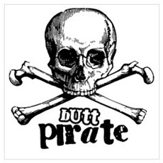 Butt pirate Poster