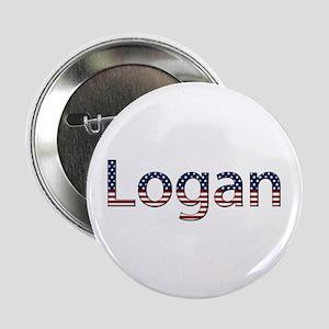 Logan Stars and Stripes Button