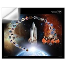 Columbia Space Shuttle Tribute Wall Decal