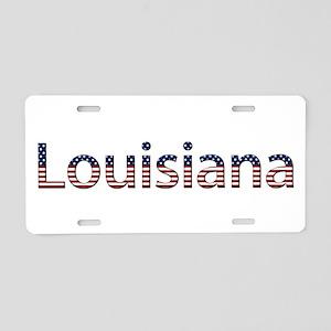 Louisiana Stars and Stripes Aluminum License Plate
