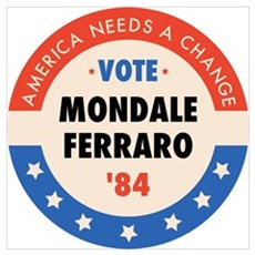 Vote Mondale '84 Framed Print