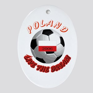 Poland world cup Oval Ornament