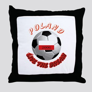 Poland world cup Throw Pillow