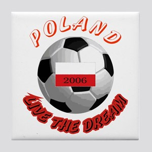 Poland world cup Tile Coaster