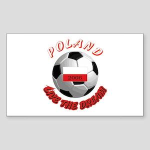 Poland world cup Rectangle Sticker