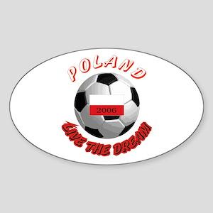 Poland world cup Oval Sticker