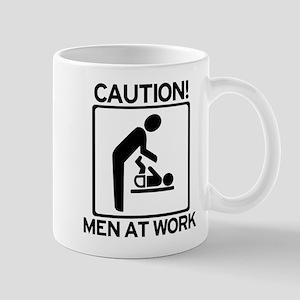 Caution: Men At Work - Diaper Mug