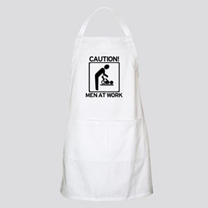 Caution: Men At Work - Diaper Apron