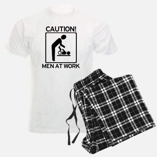 Caution: Men At Work - Diaper Pajamas