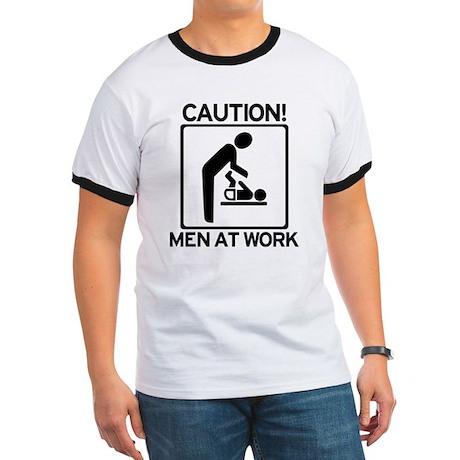 Caution: Men At Work - Diaper Ringer T