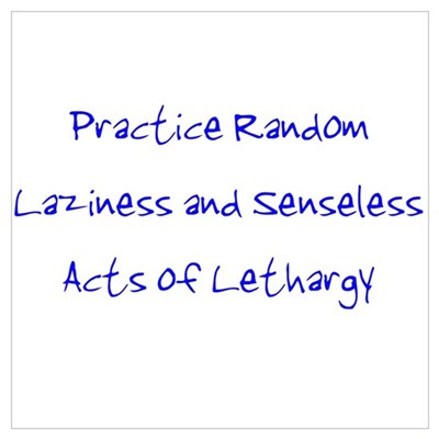 Laziness & Lethargy Poster