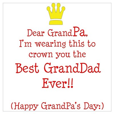 happy grandfather s day poster