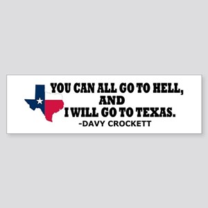 DAVY CROCKETT Sticker (Bumper)