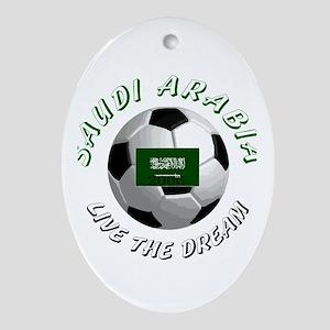 Saudi Arabia world cup Oval Ornament