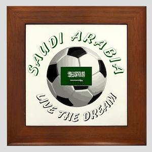 Saudi Arabia world cup Framed Tile