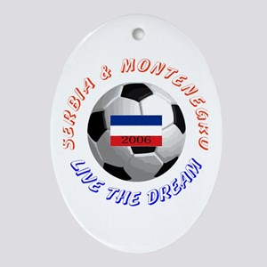 Serbia and Montenegro world c Oval Ornament
