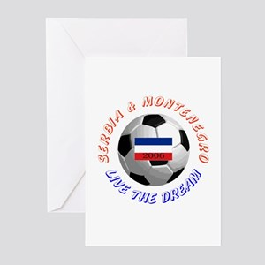 Serbia and Montenegro world c Greeting Cards (Pack