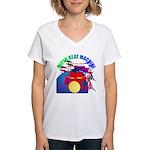 superbeat Women's V-Neck T-Shirt