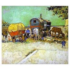 Gypsy Camp near Arles Poster