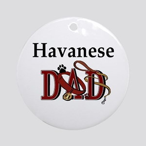 Havanese Dad Ornament (Round)