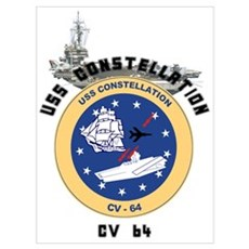 USS Constellation CV-64 Poster