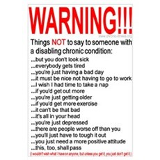 Chronic Condition Warning Framed Print
