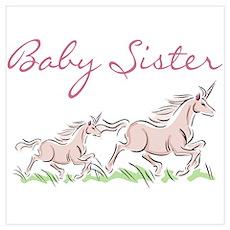 Unicorn Baby Sister Poster