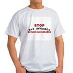 Immigrant Stop The Invasion Ash Grey T-Shirt