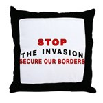 Immigrant Stop The Invasion  Throw Pillow