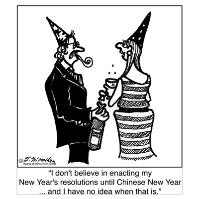 Chinese New Year's Resolutions Poster