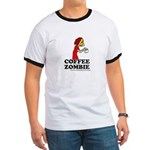 Coffee Zombie Ringer T