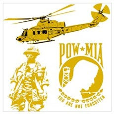 POW-MIA Gold Poster