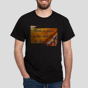 Joyful Violin Black T-Shirt