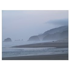 Misty Cannon Beach Poster