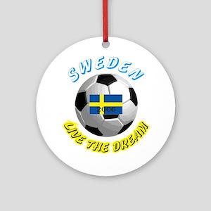 Sweden world cup Ornament (Round)