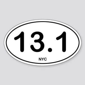 NYC Half Marathon Sticker (Oval)