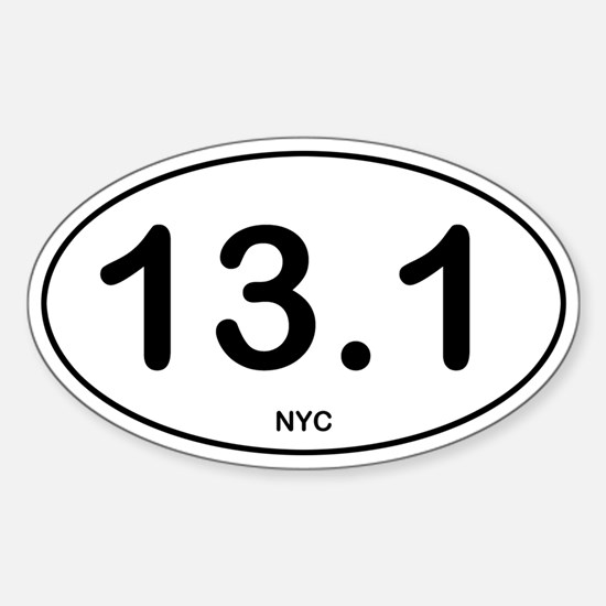 NYC Half Marathon Sticker (Oval)