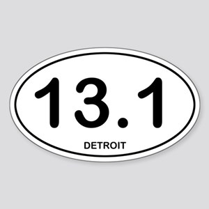 Detroit Half Marathon Sticker (Oval)