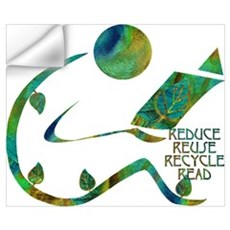Four Rs Green Reader Wall Decal
