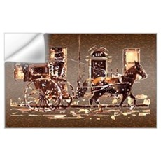 Hansom Cab Wall Decal