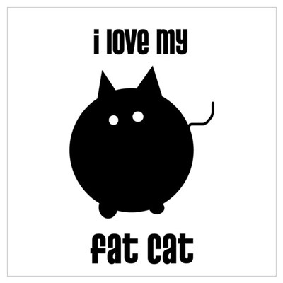 I Love My Fat Cat Canvas Art