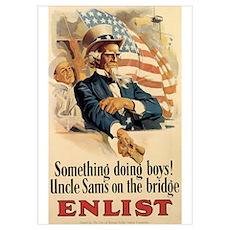 USN Uncle Sam Poster