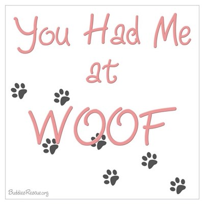 WOOF (pink) Poster