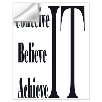 Conceive/Believe/Achieve Wall Decal