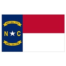 North Carolina Flag Poster