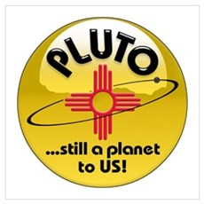 NM loves Pluto Poster