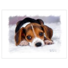 Pocket Beagle Painting Wall Art Poster