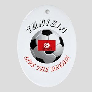 Tunisia world cup Oval Ornament
