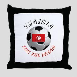Tunisia world cup Throw Pillow
